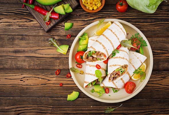 Burrito with pork Images - Photos - Logo